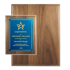 "Genuine Walnut Awards Plaque. Size: 7"" x 9"", Custom Wood Plaques For corporate awards, fund-raising events, recognition awards"
