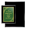 "8"" x 10"" Black Piano Finish Plaque 