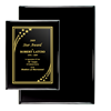 "Black Piano Finish Plaque (12"" x 15"") 