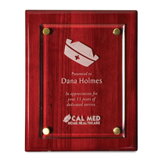 "9"" x 12"" Rosewood Floating Award Plaques 