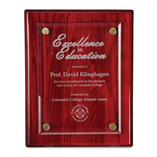 "10.5"" x 13"" Rosewood Floating Award Plaques 