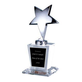 Picture of Silver Star Glass Trophy