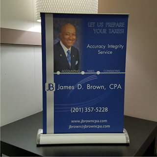 Custom Retractable Banners - Mini Tabletop, Vinyl Banner Printings | Retractable Banners | Custom Banner Printings | MawardsPlus.com