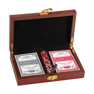 Picture of Rosewood Card and Dice Gift Set
