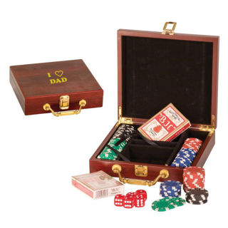 Picture of Rosewood Finish 100 Chip Poker Set
